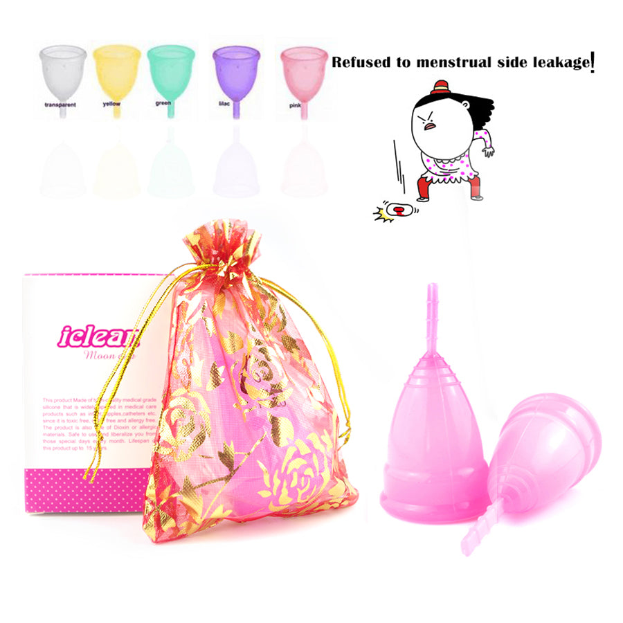Reusable Menstrual cup medical grade silicone/lady period cup/Diva Cup/alternative tampons sanitary pads Feminine hygiene vagin - My Beauty Line