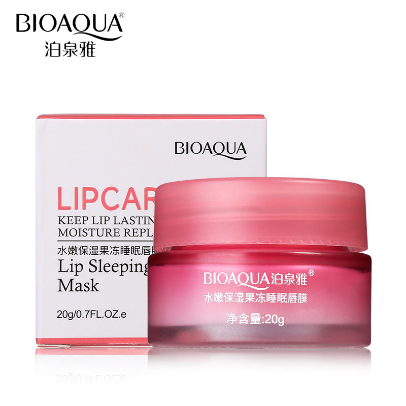 BIOAQUA Strawberry Lip Sleeping Mask Exfoliator Lips Balm Moisturizer Nourish Lip Plumper Enhancer Vitamin Skin Care Night Cream - My Beauty Line