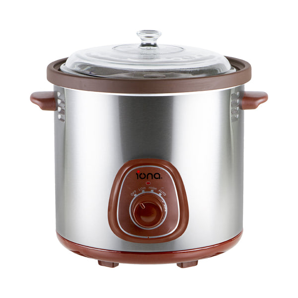 Iona 6.0L Purple Clay Auto Slow Cooker with Double Boiler - GLSC600