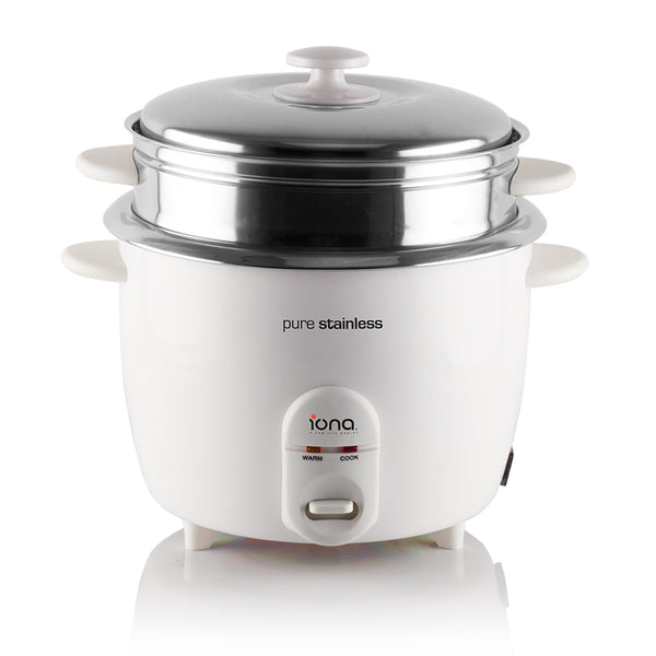 Iona Stainless Steel Rice Cooker with Steamer 18.L - GLRC181