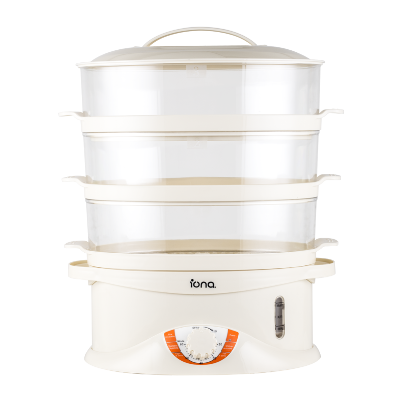 Iona 3 Tier Food Steamer - GLST003