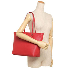 Coach City Zip Tote In Crossgrain Leather True Red