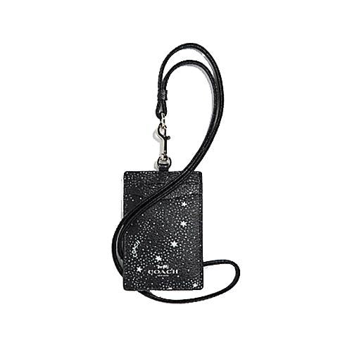 Coach ID Lanyard With Celestial Print Black