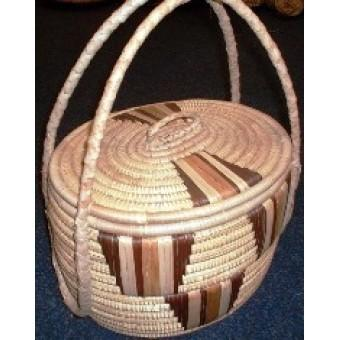 Ilala picnic basket, handwoven by artisans from Zimbabwe