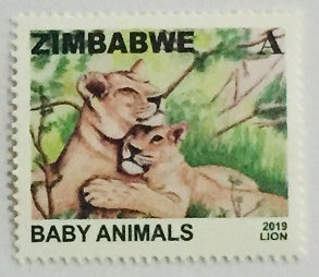 2019 Lion Baby Animals Stamps