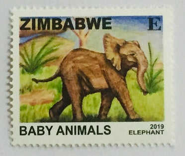 2019 Elephant Baby Animals Stamps
