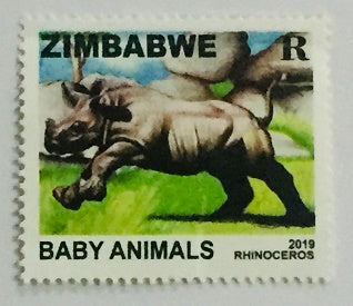 2019 Rhinoceros Baby Animals Stamps