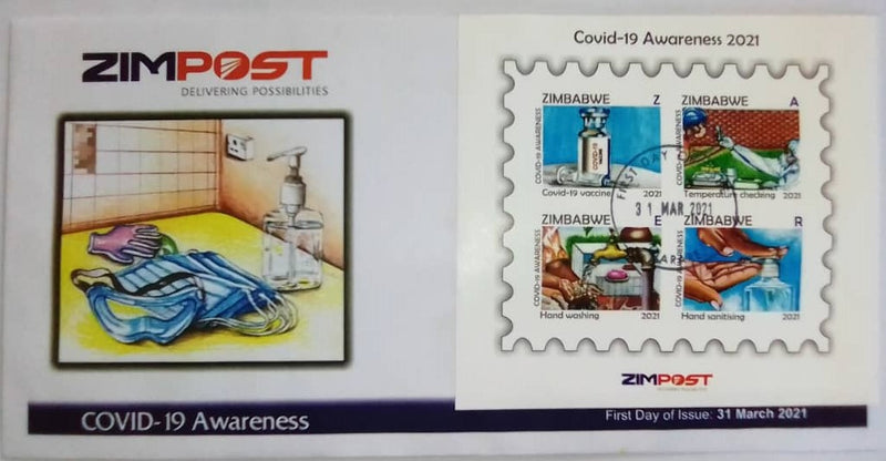 2021 COVID-19 AWARENESS 2021 FIRST DAY ISSUE COVER