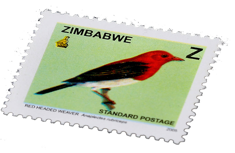 Red headed weaver stamps