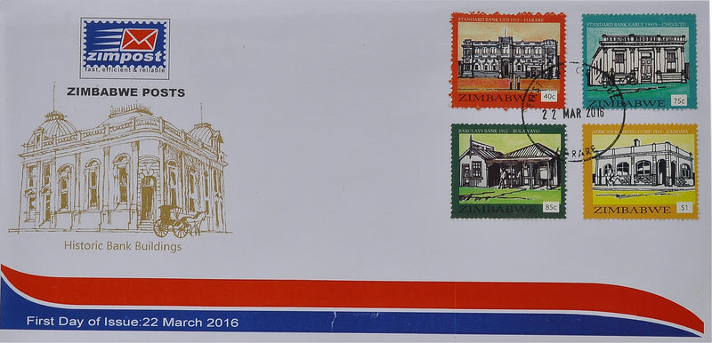 Historic banks first day issue cover