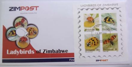 Lady Birds of Zimbabwe Minisheet on First Day Cover