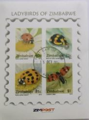 Lady Birds of Zimbabwe Cancelled Mini-Sheet