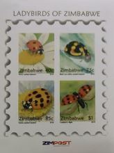 Lady Birds of Zimbabwe Mint Mini-Sheet