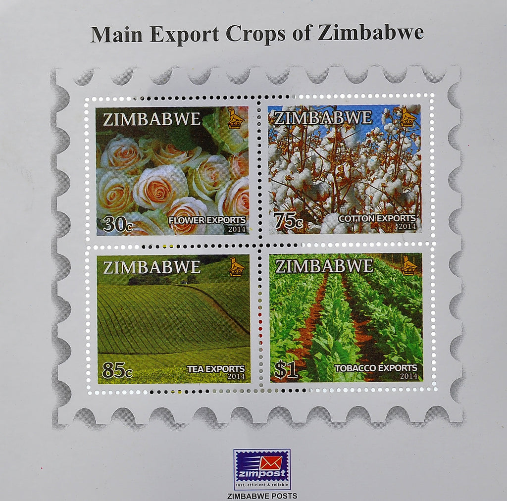 Main export crops of Zimbabwe mini sheets