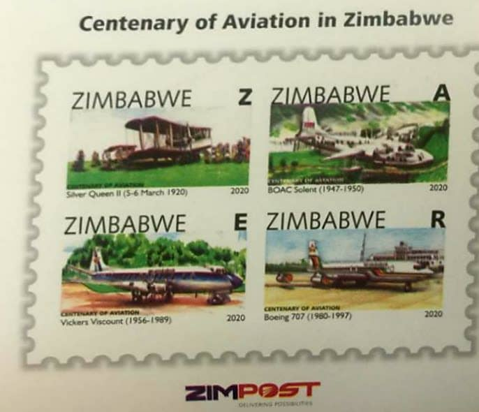 CENTENARY OF AVIATION IN ZIMBABWE MINISHEET