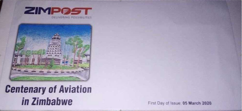 CENTENARY OF AVIATION IN ZIMBABWE FIRST DAY ISSUE COVER PLAIN