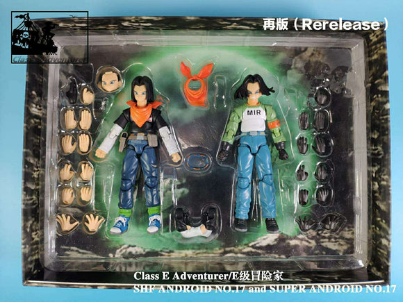 (Preorder) Rerelease Version : CEA Class E Adventure Android 17 and 17S 2 figure set