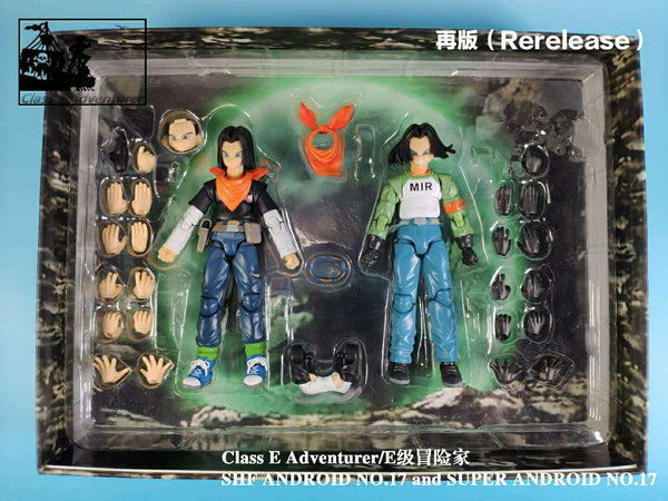 (USA stock) Rerelease Version : CEA Class E Adventure Android 17 and 17S 2 figure set