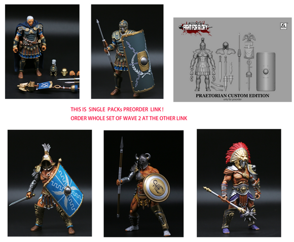 [Preorder] XESRAY STUDIO COMBATANTS FIGHT FOR GLORY GLADIATORS WAVE 2 Single packs preorders
