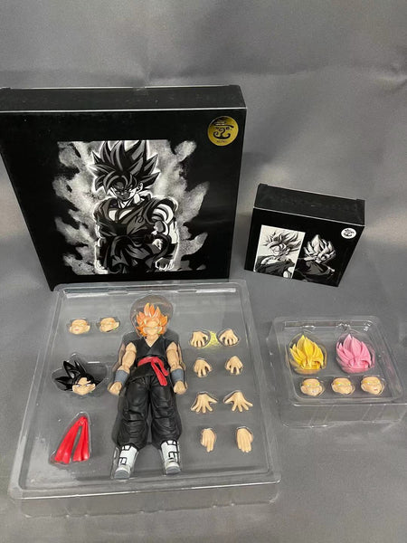 (USA stock) Kong Studio Custom Edition bundle: Combo of Black Zamusu/Goko figure Kong013 and whis hair kit kong014