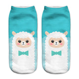Collection 2018  Women Low Cut Socks Funny  Cotton