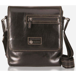 Jekyll & Hide Oxford Leather Cross Body Bag Black