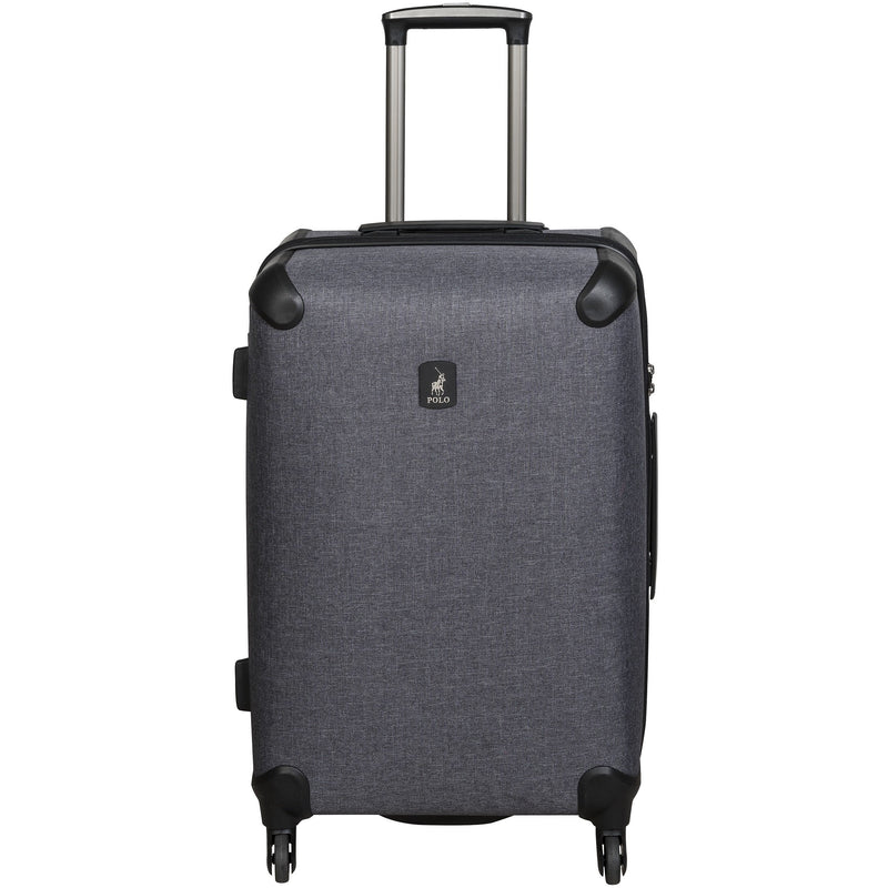 Polo Classic Double Pack Medium 4 Wheel Trolley Case | Charcoal