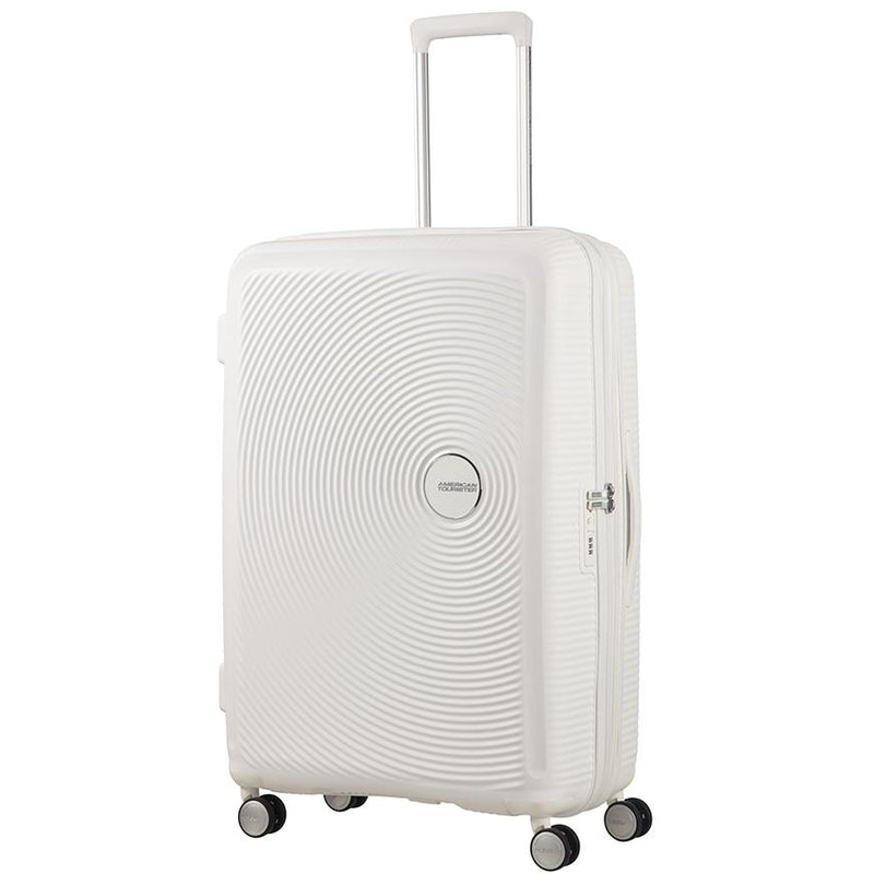 American Tourister Soundbox Spinner Expandable 77cm | Pure White