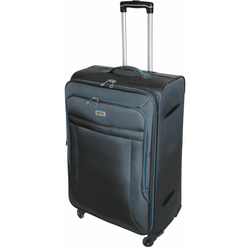 Tosca Platinum 70cm Soft Case 4 Wheel Spinner | Grey/Blue