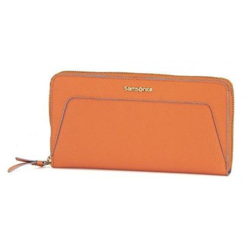 Samsonite Lady Saffiano II SLG Wallet With Zip Around | Tropical Orange