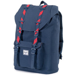 Herschel Supply Company Little America Mid-Volume Backpack | Navy/Red Stripe Rubber