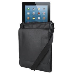 Adpel Italian Leather Messenger iPad Bag Black