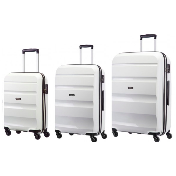 American Tourister Bon-Air 3-PC Travel Luggage Suitcase Set | White