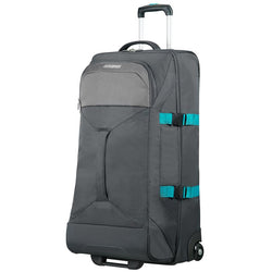 American Tourister Road Quest Duffle with Wheels 80cm | Grey/Turquoise