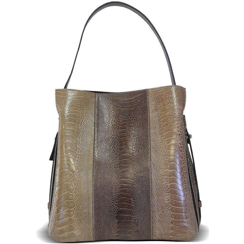 Via Veneta Anna Leather Small Elegant Handheld Bag | Multi Brown