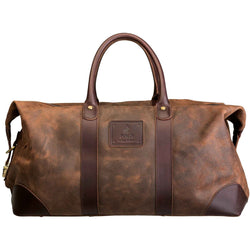 Polo Raw Oil Skin Duffel Bag | Brown