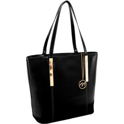 McKlein Cristina Leather Ladies' Tote with Tablet Pocket | Black