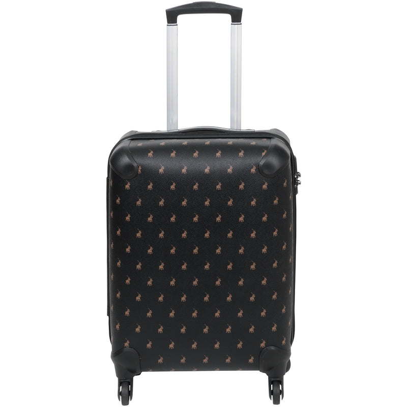 Polo Classic Double Pack Cabin 4 Wheel Trolley Case Black