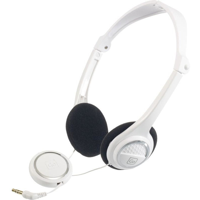 Go Travel Folding Earphones White