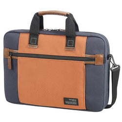 Samsonite Sideways Laptop Bag 39.6cm/15.6inch | Blue/Orange
