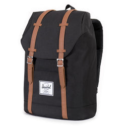 Herschel Supply Company Retreat Backpack | Black/Tan Synthetic Leather