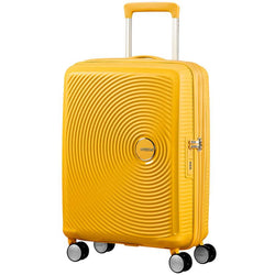 American Tourister Soundbox Spinner Expandable 55cm | Golden Yellow