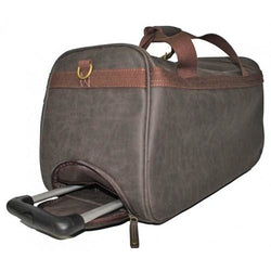 Troop Faux Suede Trolley Duffle | Brown