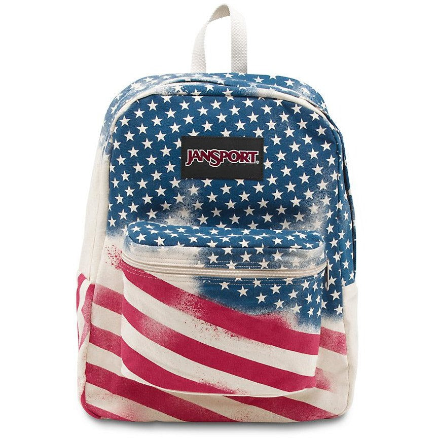 JanSport Super Fx Backpack | White Faded Stars