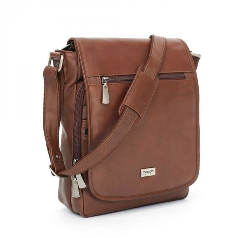 SPECIAL Brando Tango Large Cross Body Tablet Bag Brown