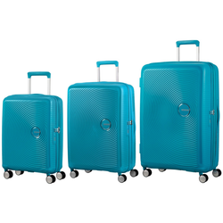 American Tourister Soundbox Set of 3 Spinners | Summer Blue