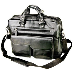 Ambassador Nappa Leather Computer/Document Bag | Black