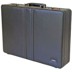 Gino De Vinci Rounded Corner Attache Case | Black