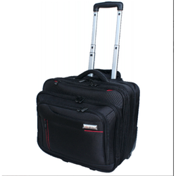 TravelMate Polyester Laptop Trolley mobile Office | Black