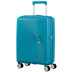 American Tourister Soundbox Spinner Expandable 55cm | Summer Blue